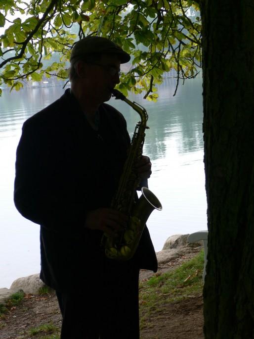 Üben morgens am Schweriner See